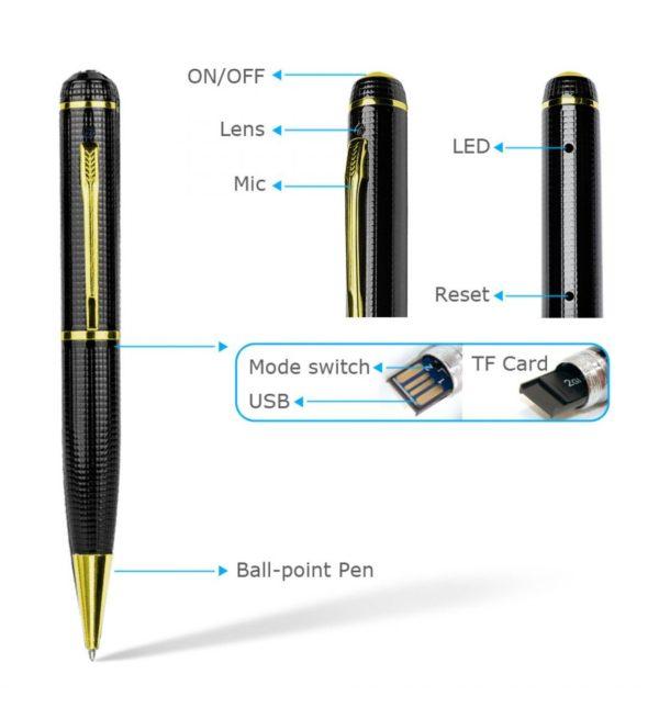 HD 720P Spy Camera Pen
