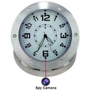 cheap silver camera clock spy shop