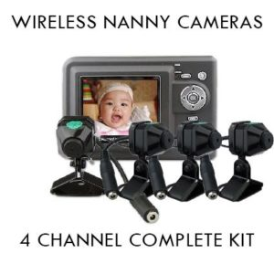 new 4 channel wireless baby monitor nanny camera kit on sale spy shop south africa