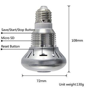 new affordable light bulb spy camera with night vision on sale south africa