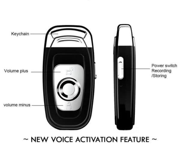 Voice Recorder Keychain