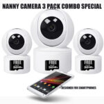 wireless smart nanny camera pack of 3
