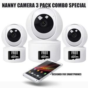 Nanny Cameras for Smartphones-3 Pack