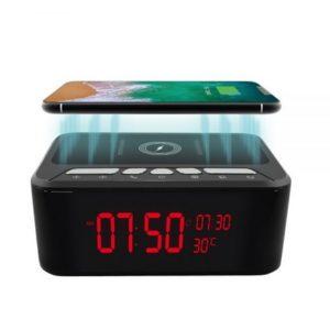 wireless speaker clock spy camera