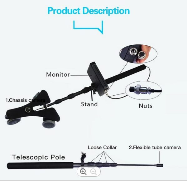 uvis telescopic inspection camera